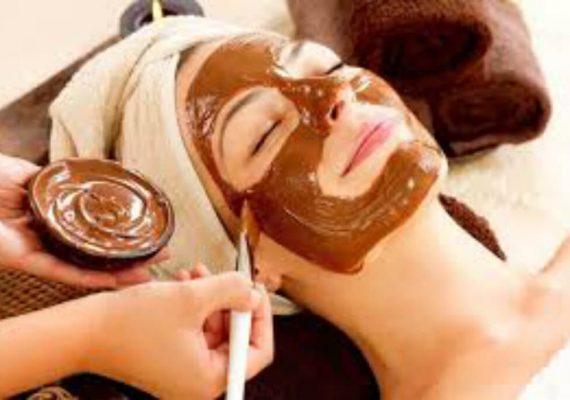 maschera viso al cioccolato